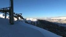 Les Orres : le travail des pisteurs après l'importante chute de neige