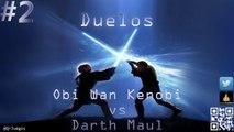 Star Wars El Poder de la Fuerza - Duelos - 100% Español #2 Obi Wan Kenobi VS Darth Maul