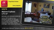 A vendre - maison - BRIENON SUR ARMANCON (89210) - 9 pièces - 175m²