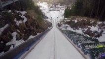 New amazing ski jumping record : Flying Man?!