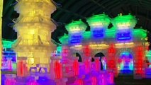 Ice sculptures on show in Beijing at New Year Carnival