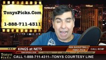 Brooklyn Nets vs. Sacramento Kings Free Pick Prediction NBA Pro Basketball Odds Preview 12-29-2014