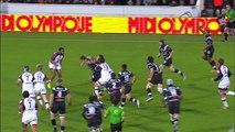 TOP14 - Bordeaux-Brive: Essai Elia Radikedike (BRI) - J14 - Saison 2014/2015