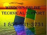 1-855-531-3731 Windows online technical support