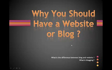 Having Website or blog is Important, Why Blogspot is wast of time as compare to  WordPress