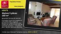 A vendre - maison - BEAUFORT EN VALLEE (49250) - 5 pièces - 160m²