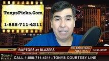 Portland Trailblazers vs. Toronto Raptors Free Pick Prediction NBA Pro Basketball Odds Preview 12-30-2014
