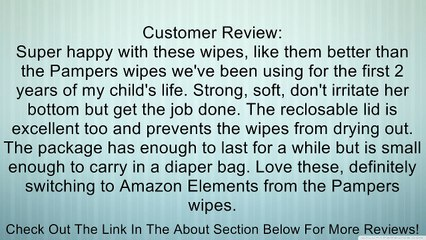 Amazon Elements Baby Wipes, Unscented, Flip-Top, 80 Count (Pack of 6) Review