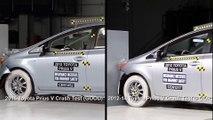 Crash protection - Vehicle improvements 2015 Toyota Prius V Vs 2012-14 Toyota Prius V Crash Test