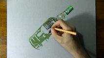 Mind blowing Drawing  of a Vodka Bottle Pktrend
