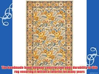Safavieh Chelsea Collection HK1C HandHooked Wool Area Rug 8Feet 9Inch by 11Feet 9Inch Ivory