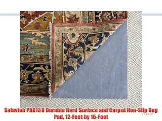 Safavieh PAD130 Durable Hard Surface and Carpet NonSlip Rug Pad 12Feet by 15Feet