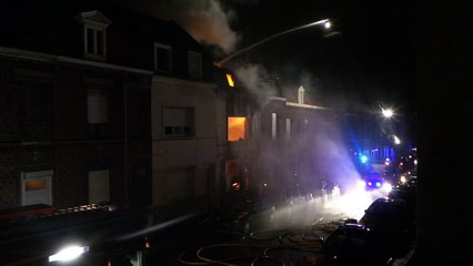 Roubaix : incendie spectaculaire rue de Bouvines