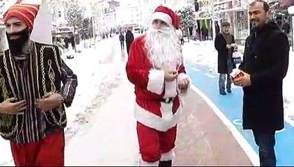 Bolu'da Yeniçeri Noel Baba'yı Kovaladı