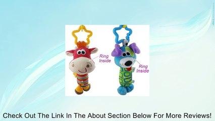 Baby Kids Soft Developmental Toy Animal Handbells Rattles (Deer+dog) Review