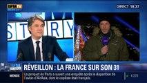 BFM Story: Saint-Sylvestre 2014: l'Arc de Triomphe est habillé en son et lumière - 31/12