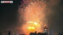 Happy New Year 2015 - Scotland - Hogmanay - Fireworks - Edinburgh