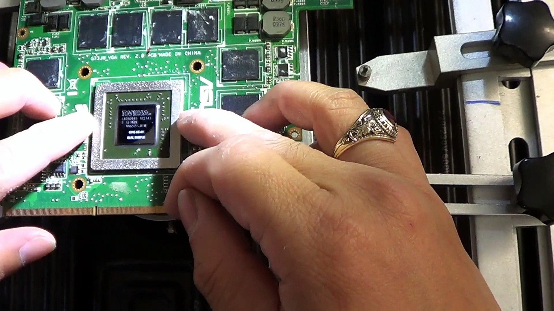reparer carte graphique pc portable Réparer ou Remplacer la carte graphique PCI E PC portable Gaming