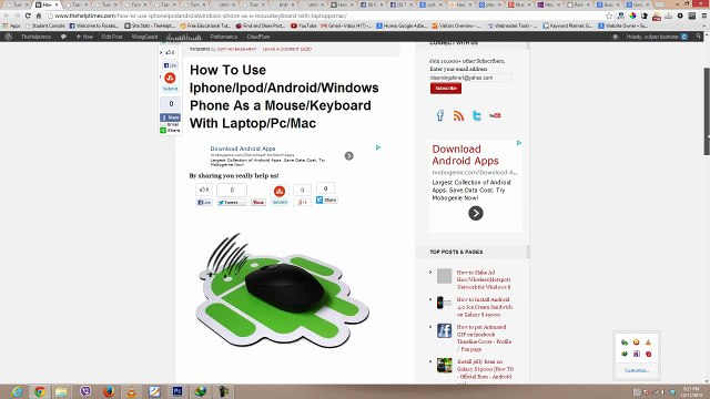 How To Use Iphone-Ipod-Android-Windows Phone As a Mouse-Keyboard With  Laptop-Pc-Mac