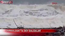 Zonguldak'ta dev dalgalar