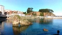 PAISAJE 1 enero 2015 en playa Palmera Candás, Asturias