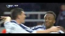 Goal Berahino - West Ham 1-1 West Brom - 01-01-2014