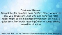 BestDealUSA Black Iron Mini USB Powered Super Mute Summer Cool Cooling Fan Review