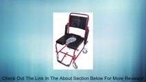 MedMobile 2-in-1 Commode / Shower Wheelchair with Drop-down Armrests, Locking Rear Castors, Detachable Footrests and PU Commode Seat Review