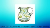 "Swirled Glass Beverage Pitcher - Aqua and Lime - Handmade from Recycled Glass - 8.5"" H x 6.5 W"" Review"