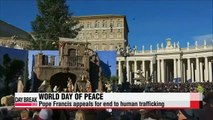 Pope Francis appeals for end to human trafficking