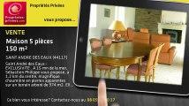 A vendre - maison - SAINT ANDRE DES EAUX (44117) - 5 pièces - 150m²