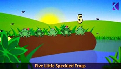 Five Little Speckled Frogs | Nursery Rhyme With Lyrics
