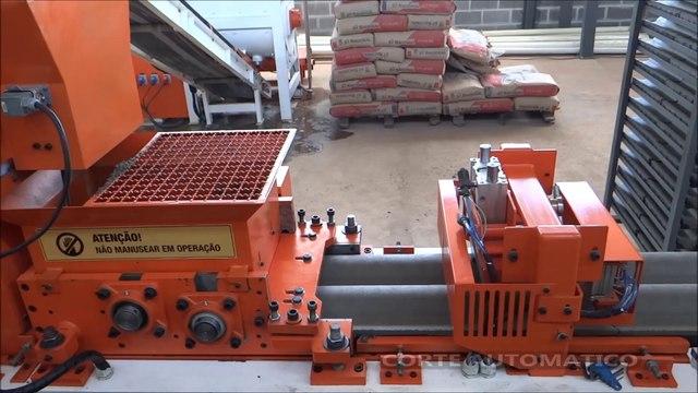 Máquina de fazer Telhas de Concreto NOWO MÁQUINAS NMT14.2000 / Concrete roof tile machinery  / Máquina para fabricar tejas de concreto