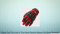 Street Bike Motorcycle Gloves A9 Red Review