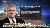 Prince Andrew Buckingham Palace Denies Prince Andrew