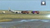 Scozia: fuori pista un aereo passeggeri, 4 feriti