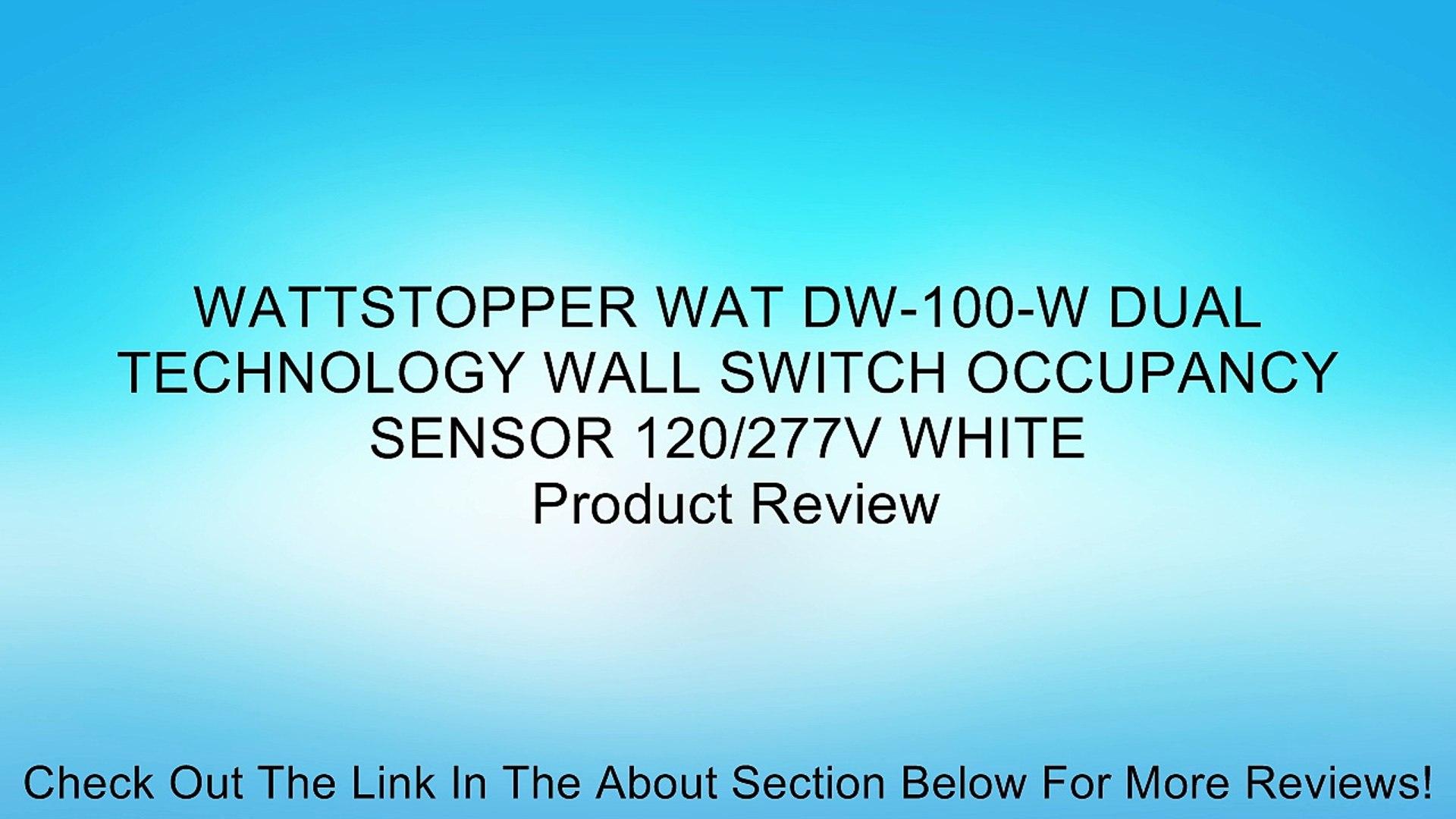 WATTSTOPPER WAT DW-100-W DUAL TECHNOLOGY WALL SWITCH OCCUPANCY SENSOR on
