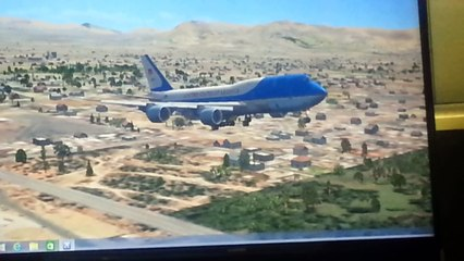 747-800 fsx approach and landing to KLAS