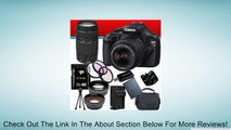 Canon EOS Rebel T3 12.2 MP CMOS Digital SLR with 18-55mm IS II Lens (Black) + Canon EF 75-300mm f/4-5.6 III Telephoto Zoom Lens + 58mm 2x Telephoto lens + 58mm Wide Angle Lens (4 Lens Kit!!!) W/32GB SDHC Memory + Extra LPE10 Battery/Charger + 3 Piece Filt