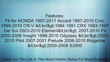 Phgiveu 10mm 40 Pcs / Pack Push-type Nylon Bumper Fender Flare Fastener Rivet Clips 91503-sz3-003 for Honda Accord Civic Cr-v CRX Del Sol Element Fit Insight Odyssey Pilot Prelude Ridgeline S2000 Acura Cl Integra MDX RDX Rl RSX Tl TSX Review