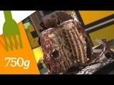 Recette du Stripe cake au chocolat - 750 Grammes