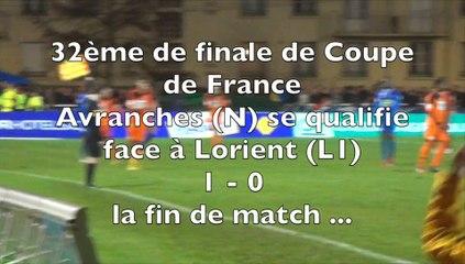 Avranches se qualifie en 16e de finale de coupe de France face à Lorient - 3 janvier 2015