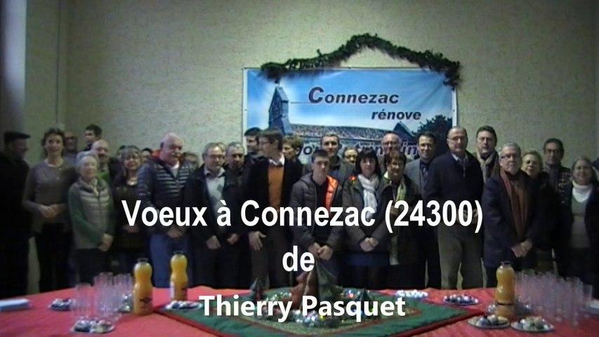Voeux de Thierry Pasquet, maire de  Connezac