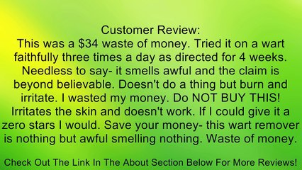 15mL Bottle of Homeopathic Wart Treatment by Naturasil Review