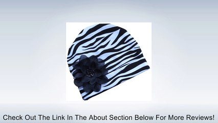 Zebra Cotton Flower Hat ~ Funny Girl Designs (Infant and Toddler Sizes) Review