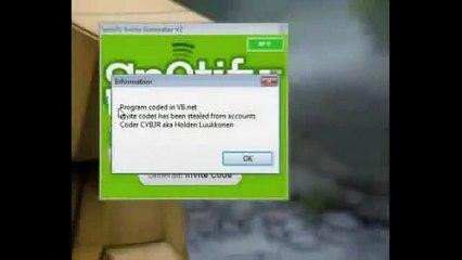 spotify premium code generator 2011