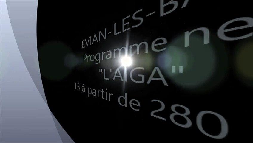 """Vente Programme Neuf """" L'AÏGA """" EVIAN-LES-BAINS agence immobilière DE CORDIER IMMOBILIER"""