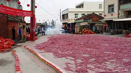 Set Of Thousands of fire crackers at the same time