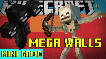 New Map: MEGA WALLS Minecraft Mini Game Play 16 SKELETON CLASS