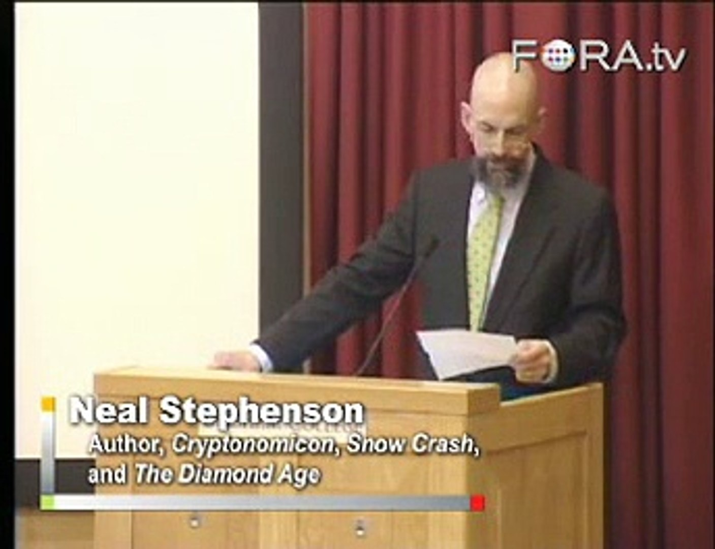 Neal Stephenson on Intelligence and Science Fiction